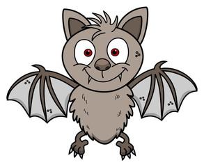 a cute young smiling bat