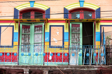 Poster Buenos Aires la boca painted house in Buenos Aires