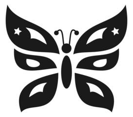 decorative black butterfly