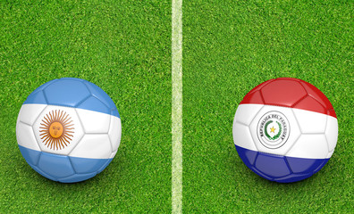 2015 Copa America football, teams Argentina vs Paraguay