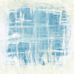 Abstract brush strokes painting, blue and white colors