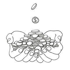 hands and money illustration