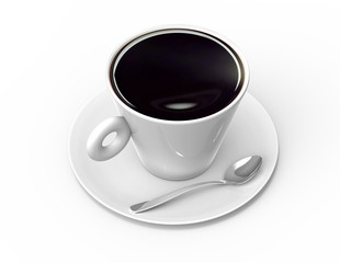 coffee cup with black coffee