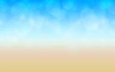 abstract and blurred beach background illustration
