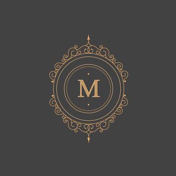 Vintage retro monogram, restaurant, hotel, boutique  Heraldic