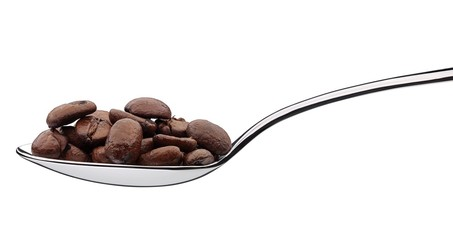 spoonfull of coffee beans