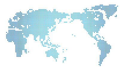 世界地図・ドット・グローバル・ネットワークイメージ・World map of dots Vector