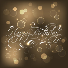 Happy Birthday greeting card, vector illustration