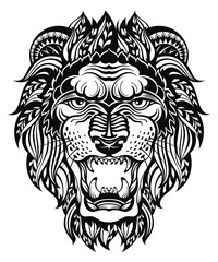 Lion Head Graphic.Leo