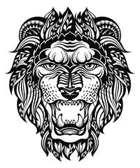 Lion Head Graphic.Leo