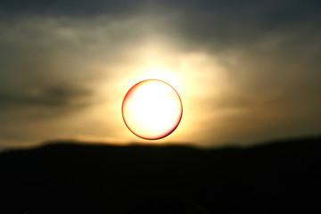 Soap bubble in the sky
