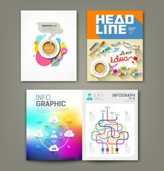 Annual report cover desk artist idea concepts