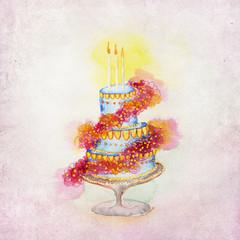 Wedding Cake Illustration, Background