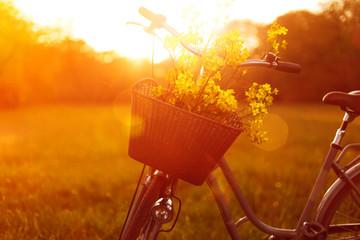Foto op Plexiglas Fiets Flower Bike