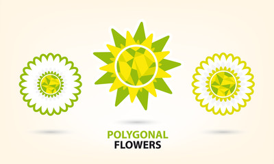 low poly spring flower.