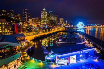 View of the waterfront from Bell Street Pier, in Seattle, Washin