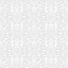 Seamless floral pattern in traditional style