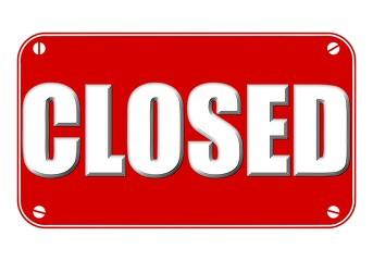Closed Sign 3d