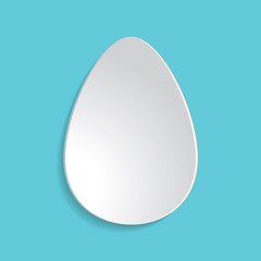 Paper Easter egg sign icon. Easter tradition symbol.