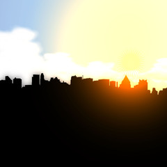City sunset Vector illustration eps 10