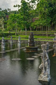 Garden of Tirta Ganga, Bali, indonesia