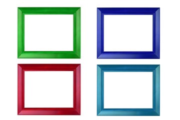 Colorful photo frame isolate on the background