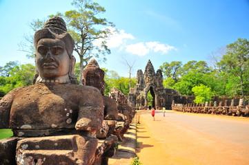 Papiers peints Monument Stone Gate of Angkor Thom in Cambodia