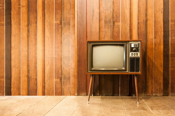 Old vintage television or tv