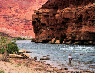 Gone Fishing / Colorado River and Marble Canyon in Arizona: