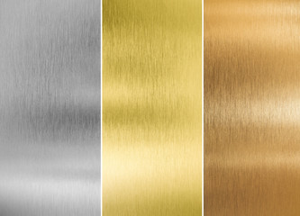 Wall Mural - high quality silver, gold and bronze metal textures