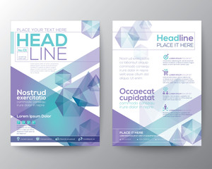 Abstract polygon design template layout for flyer brochure