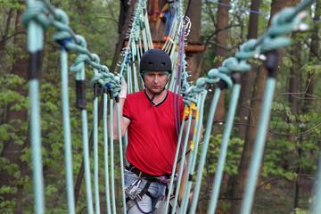 Man climber training