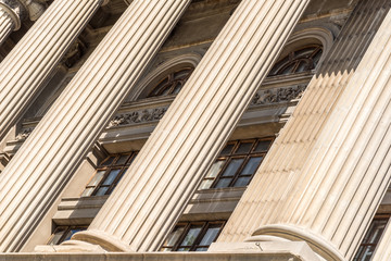 Stone Columns Of Justice Courthouse