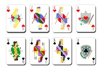 beautiful and original set of designer playing cards.