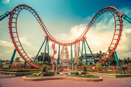 HDR photo of a Roller Coaster
