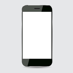 Black smartphone vector design