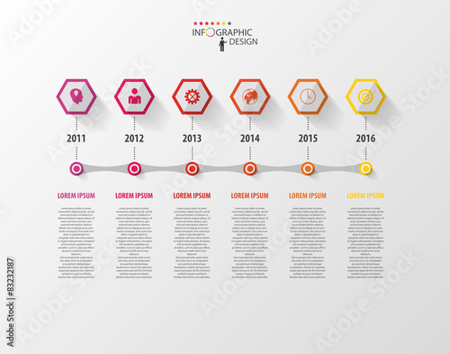 Infographics Vector Design Template Timeline Concept Stock Image - Free timeline infographic template