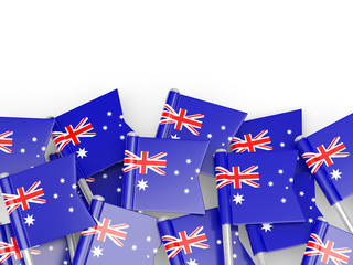 Flag pin of australia
