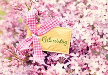 beautiful blossom flower greeting card background - birthday