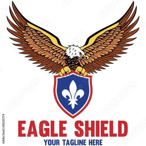 "eagle shield logo templates"" stock image and royalty-free vector"
