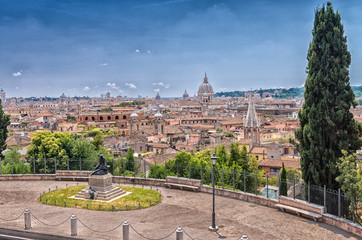 Beautiful panoramic view of Rome, Italy
