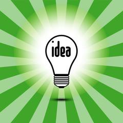 Bulb light idea. Vector illustration