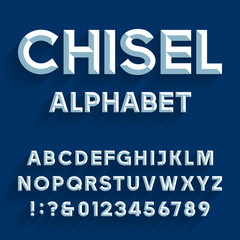 Chiseled Alphabet Vector Font
