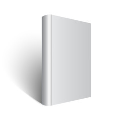 standing gray book illustration on white