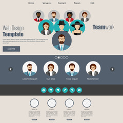 Simple Flat website for Teamwork business.