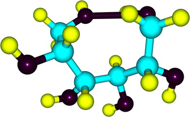 Sorbitol molecule isolated on white