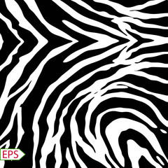 Vector zebra background with black stripes.