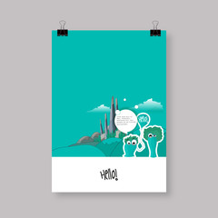 Flyer or Cover Abstract A4 / A3 poster