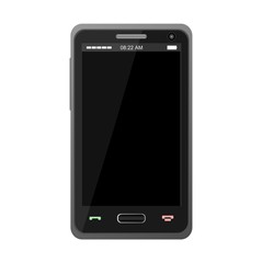 Black Realistic Mobile Phone