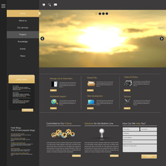 Web Design, elements. Templates for website.